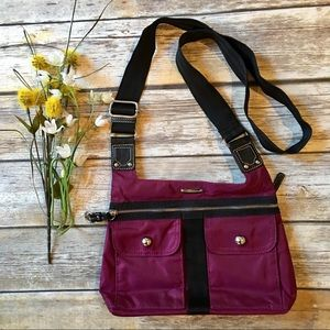 FRANCO SARTO Maroon / Red Crossbody Purse